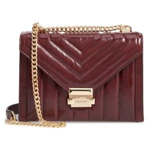 Michael Kors Whitney Leather Quilted Shoulder Bag